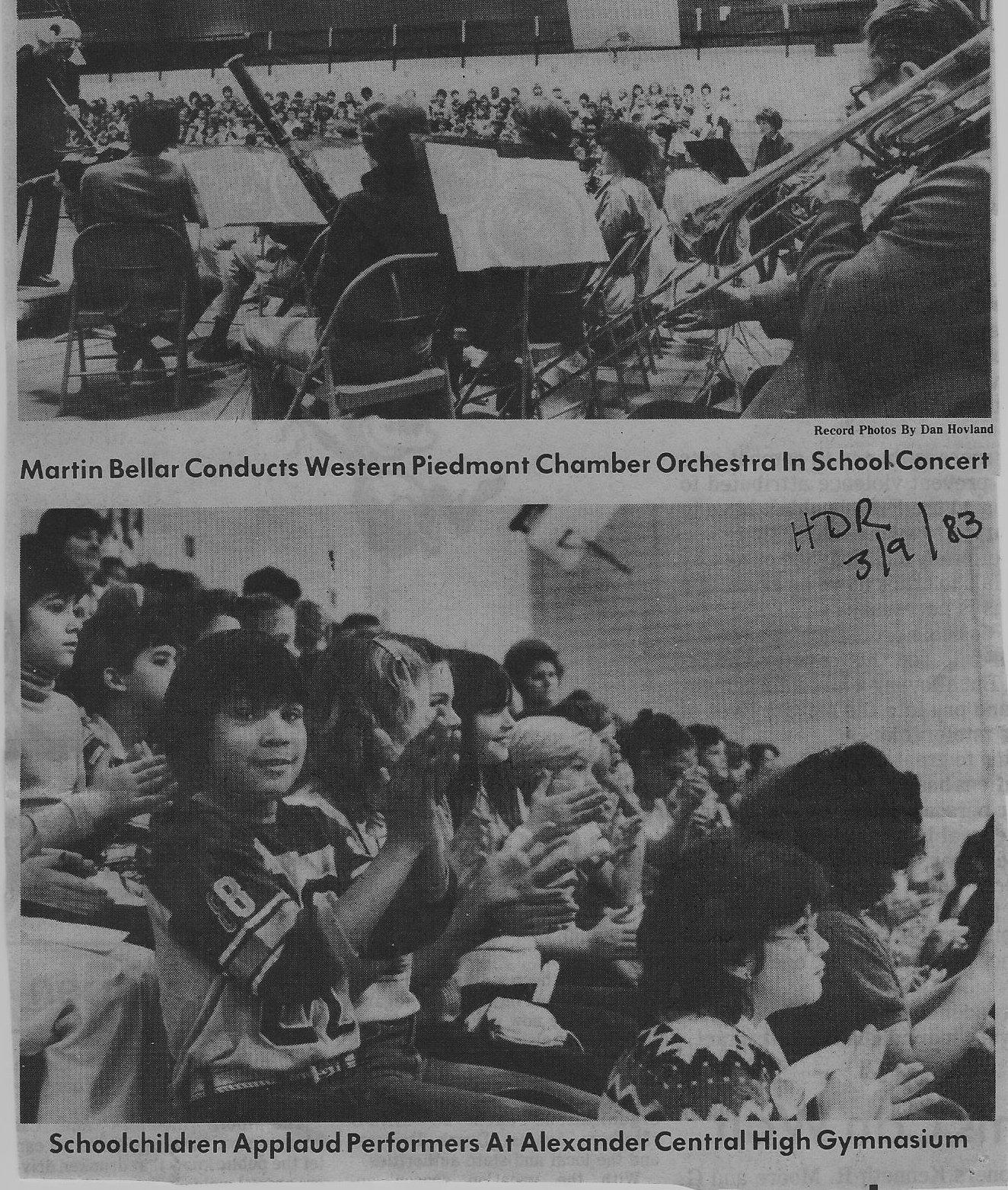 Inschool with Bellar 1983